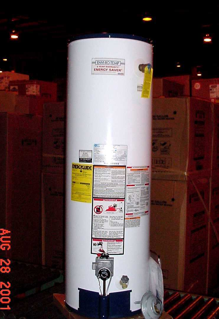 Picture of Recalled Water Heater